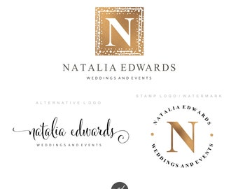 Luxury Premade Branding Kit, Wedding event logo Photography logo, wedding stylist logo, Blog logo, Watermark, Branding kit, Logo package, 46