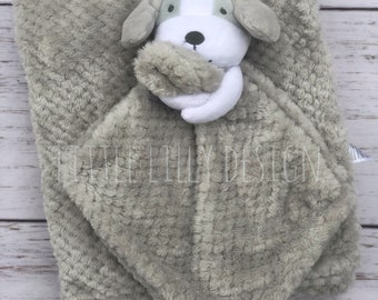 Security blanket and baby blanket set, puppy security blanket, baby blanket, baby gift set