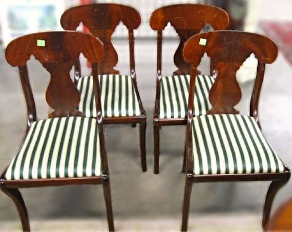 4 BIGGS FURNITURE KITTINGER Empire Style Dining Room Chairs