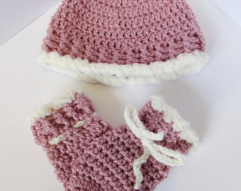 Beanie and mittens set