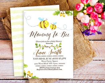 Baby shower invitation mommy to bee baby shower invitation mommy to bee invitation bee baby shower invite bumble bee printable invitation honey bee baby shower invitation diy printable invites filmwisefo