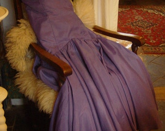 Vintage Women's Lilac Long Party Evening Dress Prom Dress Ball 1970's does 1950's  UK 14-16