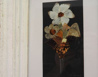 flowers made from butterfly wings