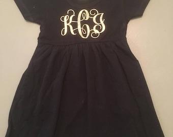Toddler monogrammed dress