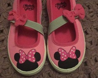 Minnie Mouse hand painted shoes