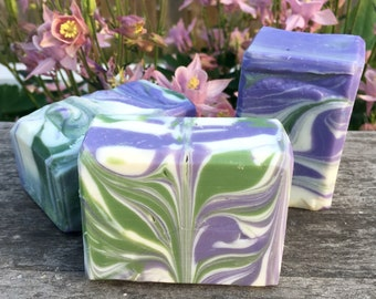 Soap—Lavender Lime.  Essential oil, cold process, shea butter, aromatherapy