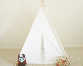 Muslin Teepee Tent with Floor Mat  Play Tent with Play Mat