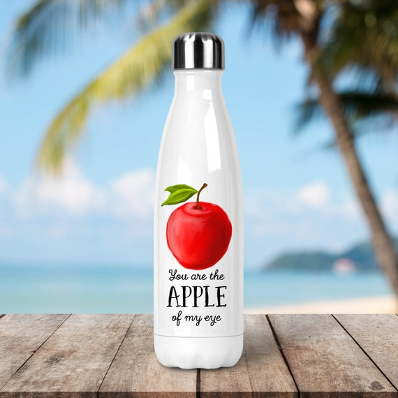 Stainless Steel Water Bottle - You are the Apple Of My Eye - Funny Veggie - Eco Friendly Water Bottle