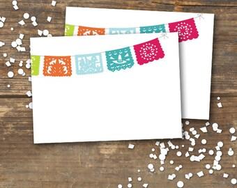 Menu Tent Cards Fiesta Printable Papel Picado