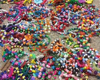 Lot of rave kandi bracelets