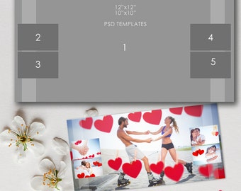 12x12, 10x10 Story Board Template, Photoshop, psd files - INSTANT Download - T13