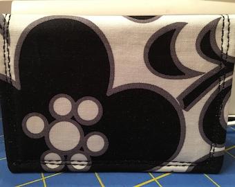 Handmadebynana Slim Style Wallet in Night and Day pattern