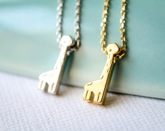 Tiny Giraffe Necklace - Available in Silver or Gold