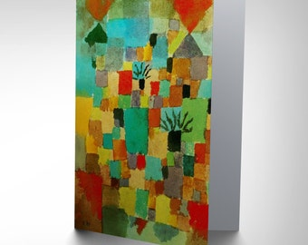 Paul Klee Southern Tunisian Gardens 1919 Old Painting Greetings Card CP1226
