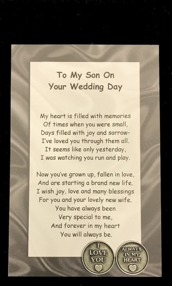 To my son on his wedding day poem