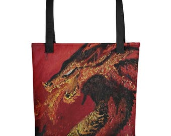 Medieval Dragon Tote bag