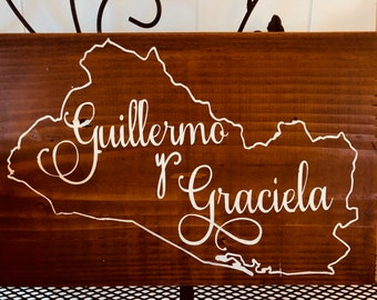 Personalized Name and Country Sign