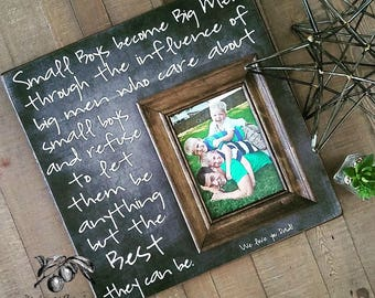Fathers Day Gift, Fathers Day Photo Frame,  Gift for Dad, Mens Gift Personalized Dad Gift, Grandpa Gift, 16x16 The Sugared Plums Frames