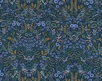 Tapestry Navy 8031-01 - Menagerie - Anna Bond Rifle Paper Co - Cotton + Steel - 8004-04