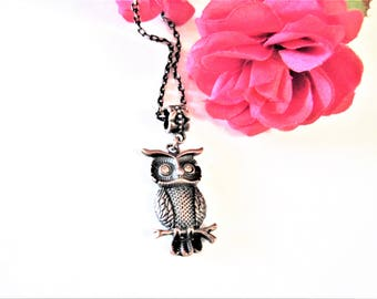 Owl Necklace, Copper Owl Necklace, Copper Jewelry, Owl Jewelry, Bird Lover Gifts