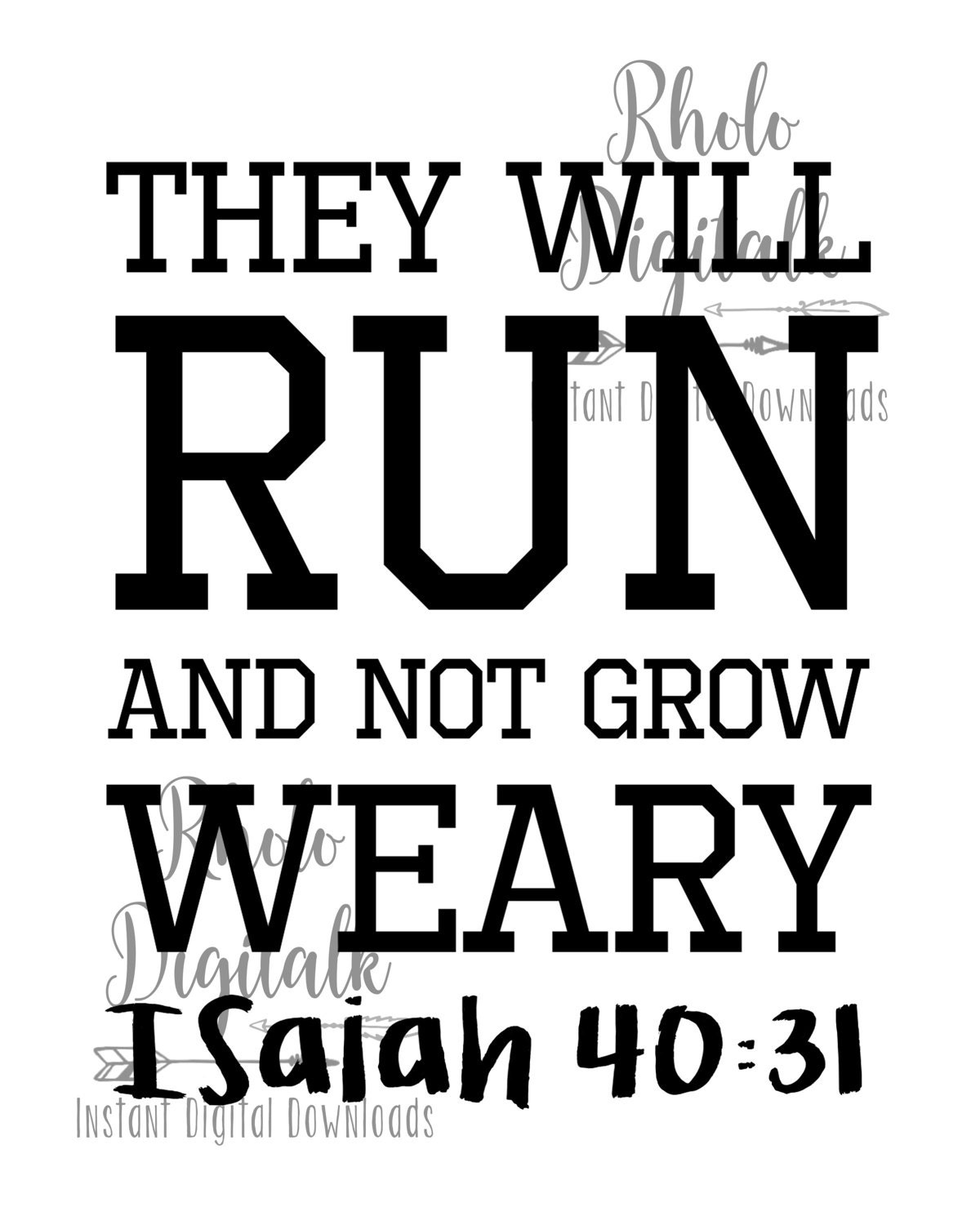 they will run and not grow weary instant digital download