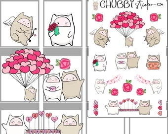 Chubbiz - Valentines Day Planner Stickers