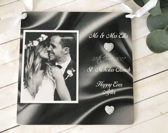 Personalised Wedding Photo Wall Hanging Gift