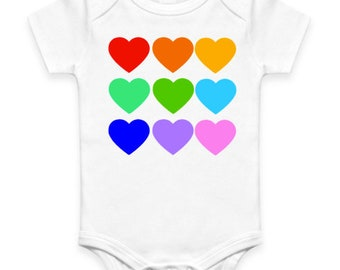 Rainbow Hearts Onesie