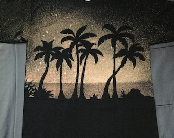 Palm Tree Night - Bleached Shirt