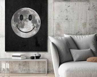 Canvas Wall Art- Happy Moon  by IKONICK