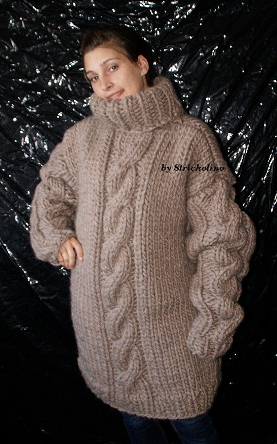 9521f894b To order Thick knit wool sweater chunky turtleneck sweater