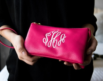 Monogrammed Crossbody Clutch Purse | Bridesmaid Gift | Mother's Day Gift | Personalized Crossbody | Monogrammed Wristlet | Ladies' Crossbody