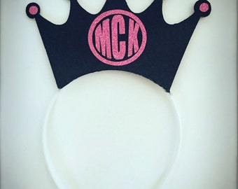 HEADBAND Monogram Crown, great for a bachlorette parties, birthday parties, anniversaries, and photo booths