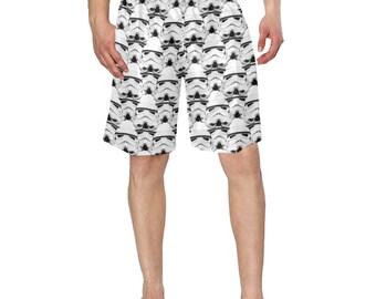 Stormtrooper Helmet Print Swim Trunks for Men - Star Wars Inspired Men's Swimwear - Swimming Shorts - 3 Color Choices