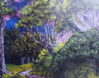 The sun is still shining Original Acrylic Landscape Painting