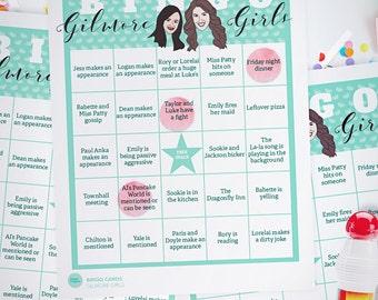 20 Bingo Game Cards // Gilmore Girls Game // Downloadable + Printable