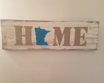 Home State Sign, Choose YOUR State, Personalize, Custom, State Pride, USA Sign, Rustic Decor, Country, Patriotic