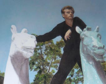 James Dean With Two White Horses Free Shipping