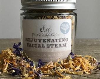 Organic Rejuvenating Facial Steam. Herbal Steam. Botanical Steam