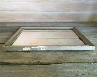 rustic little mirror