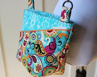 Paisley and Flourishes Cross Body Hipster Bag