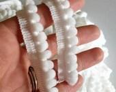 White Mini Pom Pom Trim, ...