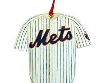 New York Mets  Jersey Ornament  Offical MLB Ornament   NY Mets Gift  Personalized Christmas Ornament