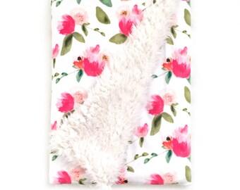 Baby Blanket Gatsby Peonies. The Cloud Blanket. Faux Fur Baby Blanket. Minky Baby Blanket. Floral Baby Blanket. Peony Baby Blanket.