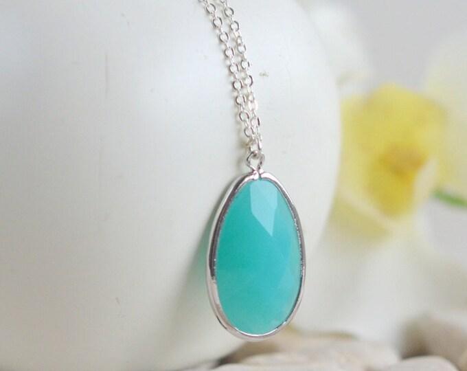 Long Turquoise Layering Necklace. Boho Necklace. Turquoise Jewelry. Stone Statement Necklace. Long Jewel Necklace. Stone Necklace. Gift.