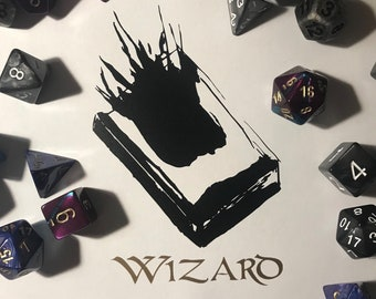 Black and Gold Wizard Decal