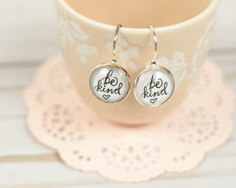 Be Kind Anyway Drop Earrings, Inspirational Earrings, Gifts Under 15, Kindness Counts Earrings, Inspirational Jewelry for Women, 2M05
