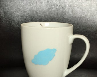 Blue Cloud Coffee Mug Soy Candle