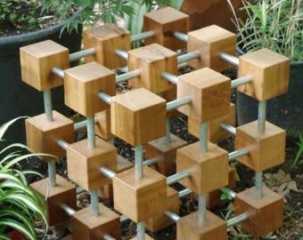Solo Cubes 3x3 Garden Sculpture