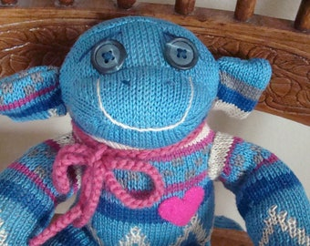 Long Loveable Knee Sock Monkey